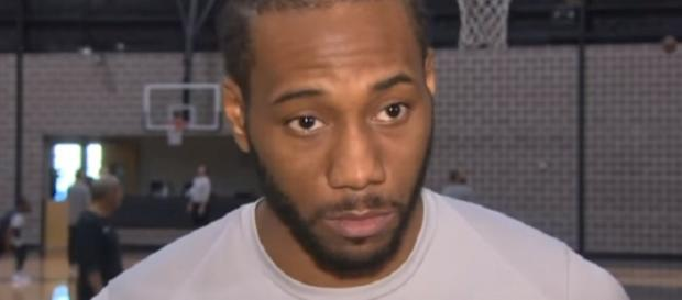 Kawhi Leonard is eligible to sign a maximum contract extension with Spurs. - [Image Credit: KENS 5 / YouTube screencap]