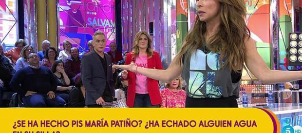 Sálvame: El misterio del agua en la silla de María Patiño.