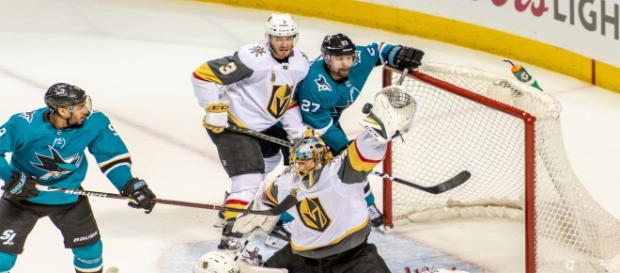 Vegas tuvo la suerte de los postes y de Marc-Andre Fleury. NHL.com.