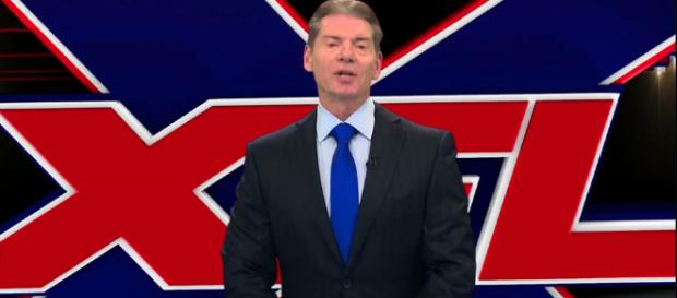 Vince McMahon's WWE entered into an agreement regarding the new XFL this past April. [Image via WWE/YouTube]