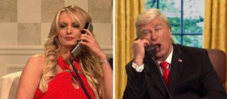 """Stormy Daniels on """"Saturday Night Live,"""" via Twitter"""