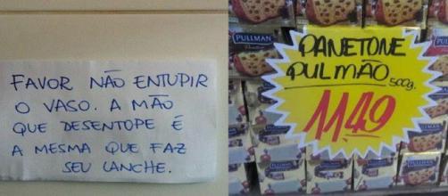As placas mais loucas encontradas em estabelecimentos brasileiros.