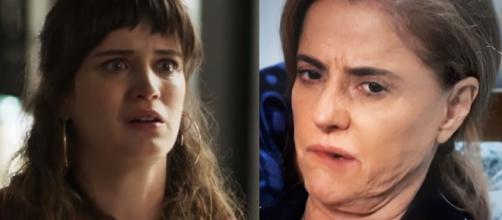 Clara e Sophia 'torta' em 'O Outro Lado'