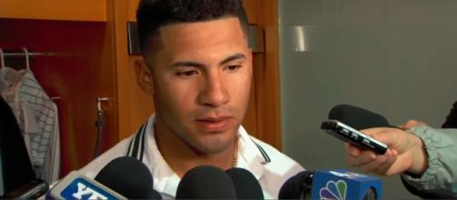 Gleyber Torres with New York Yankees. - [YES Network / YouTube screencap]