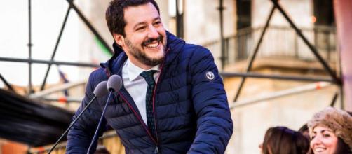 In alto, Matteo Salvini, leader della Lega