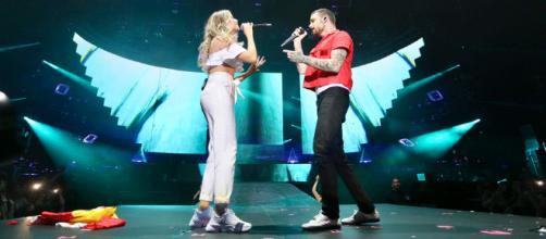 Liam Payne y Sofía Reyes juntos en el escenario