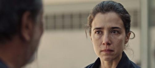 Marjorie Estiano estava gravando Sob Pressão quando a polícia chegou (Foto: TV Globo)