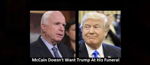 McCain doesn't want Trump at his funeral. - [Photo: CNN News / YouTube Screenshot]