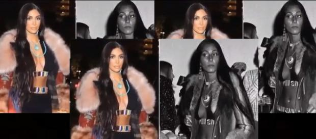 Kim Kardashian as Cher at Cher's concert in Vegas. Photo: Breaking News YouTube Video Screenshots