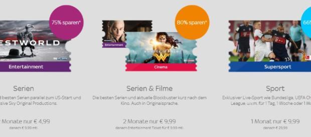 Ticket-Kunden profitieren von sehr günstigen Angeboten / Foto: Screenshot Sky.de