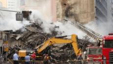 Bombeiros falam sobre a chance de haver sobreviventes nos escombros do prédio