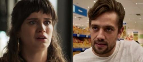 Clara e Renato em 'O Outro Lado do Paraíso'