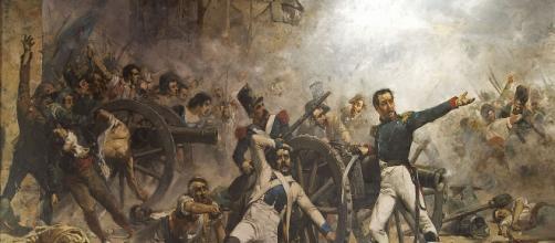 Defensa del parque de artillería de Monte León, obra de Joaquín Sorolla