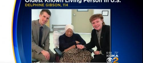 Delphine Gibson, America's oldest person, has passed away, CBS Pittsburgh/YouTube Channel