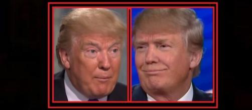 Donald Trump on lovers' Tweets. Photo: CNN/Fox News YouTube screenshots