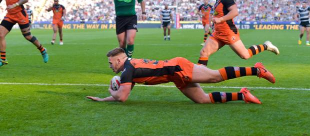 Youngster Calum Turner scored a try on his debut for Castleford against Hull. Image Source - castlefordtigers.com