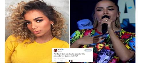 Anitta critica filme 'Vingadores: Guerra Infinita' no Twiiter