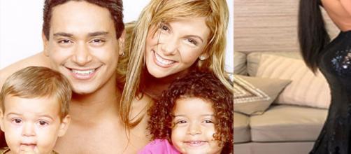 Carla Perez, Xanddy e os filhos (Foto: Reprodução)