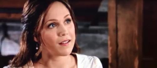 Erin Krakow and producer Brian Bird see bright things ahead for Elizabeth on 'When Calls the Heart.' [image source: WCTHFamily/YouTube]