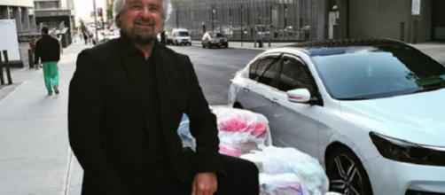 Grillo e la sua monnezza a New York