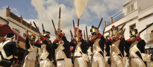 Grupos de recreación histórica sobre la época napoleónica.