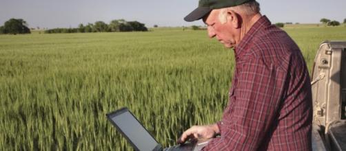 La agricultura moderna: la tecnología ayuda a mantener los cultivos.