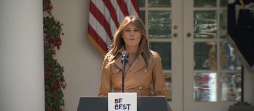 Melania Trump at White House, via YouTube
