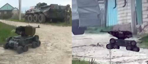 Robô armado foi utilizado por forças russas no combate a extremistas islâmicos (Crédito: LiveLeak/East2West News)