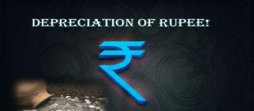 Rupee Tumbles to 15-month low, seeks further pressure. [Image Credits: Money Control/Youtube)