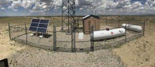 Una instalación de Kelvin Inc. en el campo Wamsutter de BP en Wyoming.