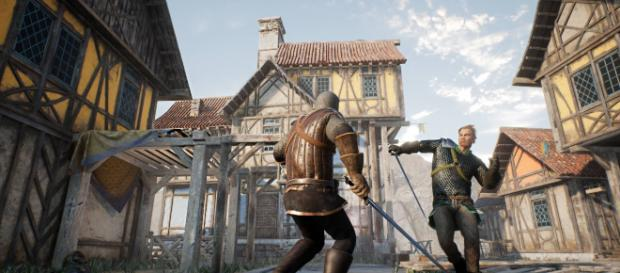 Sword fighting in 'Valhall' is graphic and intense. [image source: Facebook/ValhallGame]