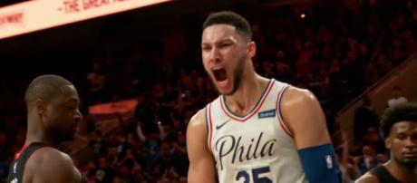 Ben Simmons will try to keep his Philadelphia 76ers alive in the NBA playoffs with another win on Wednesday. [Image via NBA/YouTube]