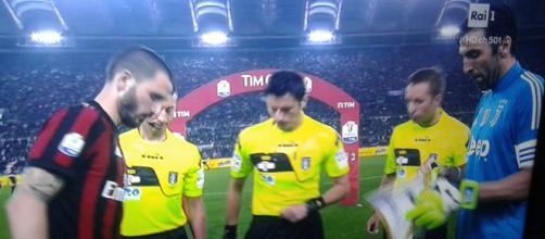 Juventus-Milan: i capitani Bonucci e Buffon