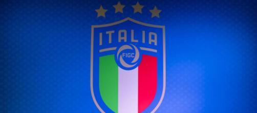 Lo stemma della Figc, Federazione Italiana Giuoco Calcio.