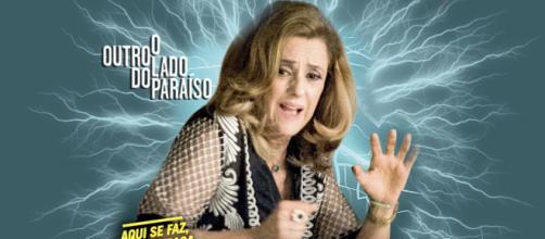 Sophia (Marieta Severo) paga por todos os erros, no final da trama (Montagem/Telma Myrbach)