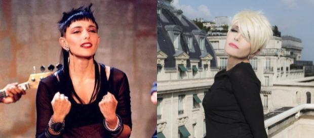 """À gauche : en 1989 sur un plateau télé. À droite : en 2017, pour son dernier album """"PH"""", la chanteuse arbore un tout nouveau look !"""