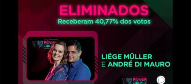 André e Liége foram eliminados do ''Power Couple Brasil''