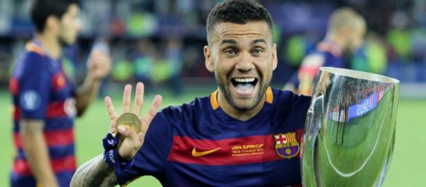 Daniel Alves: campeão na sua passagem pelo Barcelona
