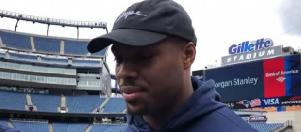 Jeremy Hill signed a one-year deal with the Patriots (Image Credit: The Providence Journal/YouTube)