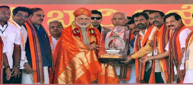 Karnataka Modi rally getting huge crowd: (Image via NDTV)