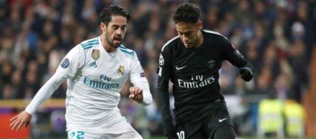 Neymar e Isco, ainda como rivais