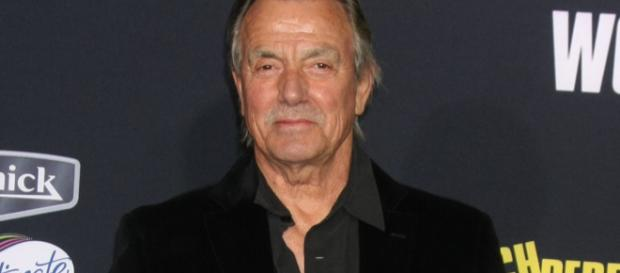 "Victor reveals Dina's secret on ""Y&R."" (Image via Eric Braeden Memoires CBS Soaps in Depth)."