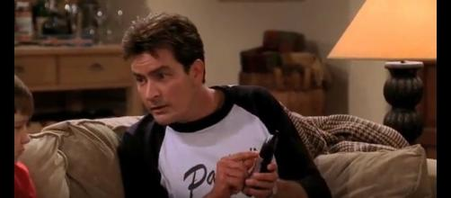 Former sitcom star Charlie Sheen. [Image from Military Zone HD / YouTube.]