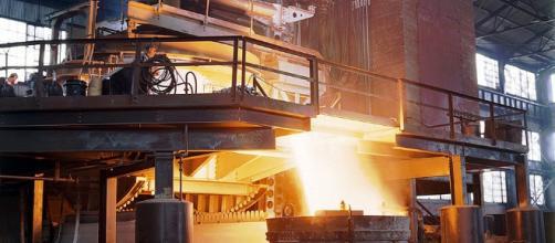 Steel furnace via Wikimedia Commons