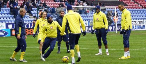 Tottenham warmup, Wigan Athletic v Tottenham Hotspur. - [Image credit – Dan Farrimond / Wikimedia Commons]