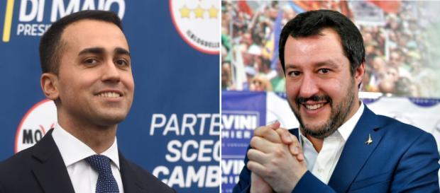 Luigi Di Maio ( à gauche ) et Matteo Salvini ( à droite ) ont prêté serment ce vendredi.