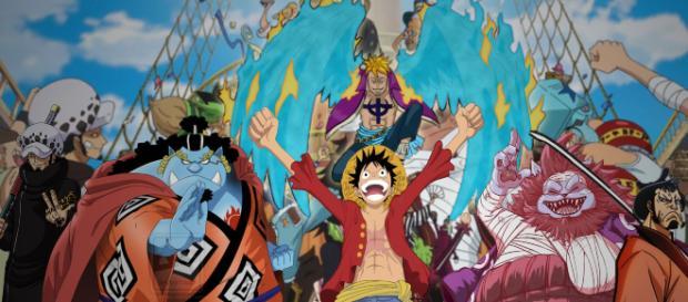 One Piece 906 se ve la realeza de los reinos pertenecientes al Gobierno Mundial reunirse en Marijoa