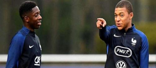 Demberé y Mbappé son las nuevas esperanzas de Francia en este Mundial. Foto cortesía El Telégrafo.