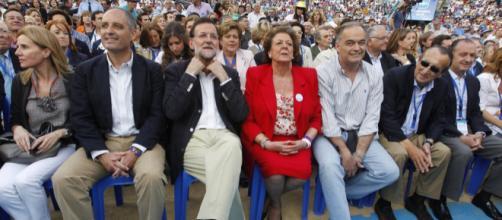 Camps, Mariano Rajoy, Rita Barberá y otros directivos del PP valenciano.