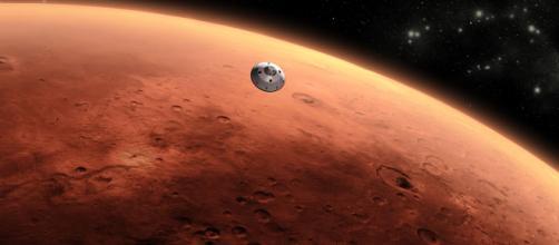 Immagine dall'alto del pianeta Marte